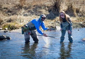 Fly fishing on the Provo River