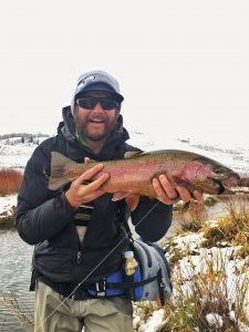Streamer fishing only a half hour from Park City Utah.