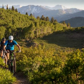 summer mountain biking park city