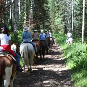 group trail riding horseback utah
