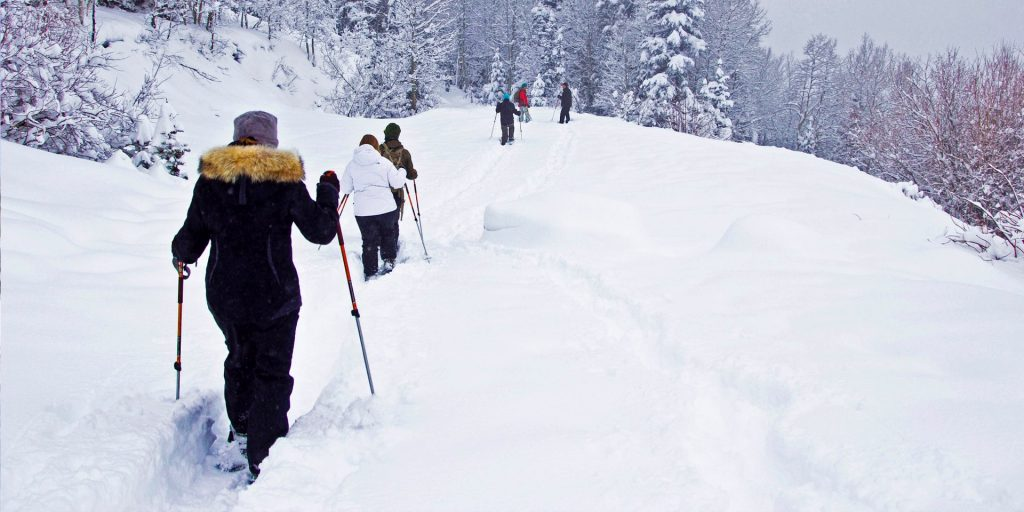 Snowshoeing Park City Utah