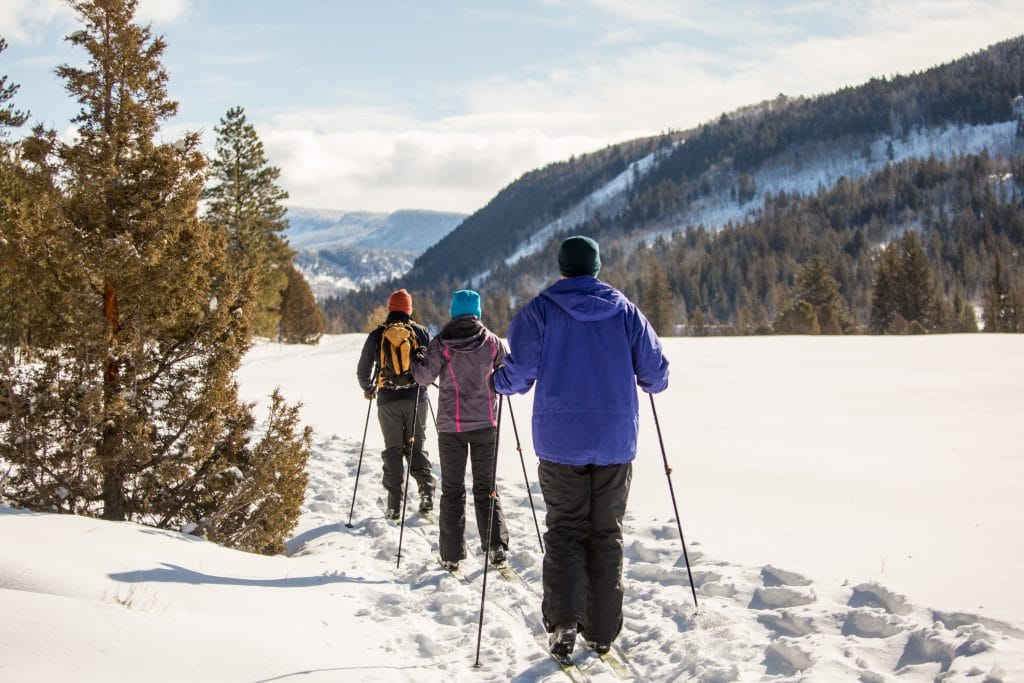 Cross country skiing tours