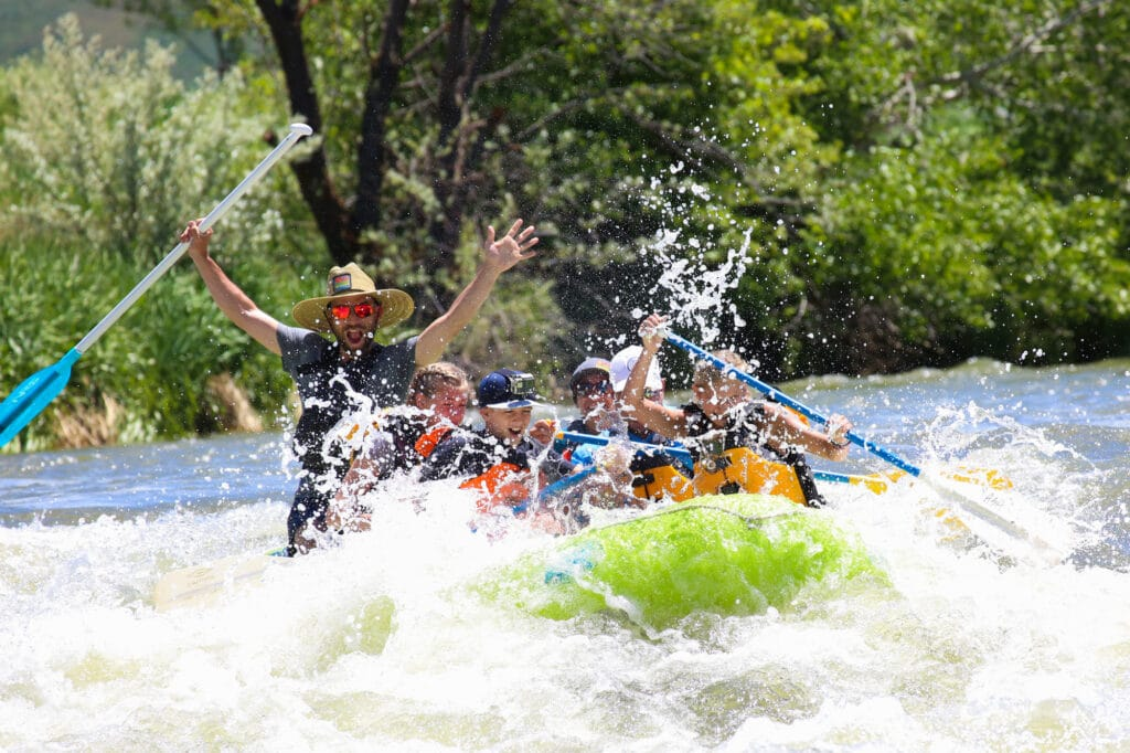 splashy whitewater rafting on the Weber River