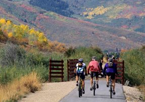 Biking on the Union Pacific Rail Trail